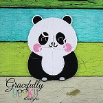 Panda Puzzle with Pouch Embroidery Design - 5x7 Hoop or Larger