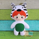 Zebra Kid Stuffie Embroidery Design