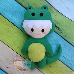 Alligator Kid Stuffie Embroidery Design
