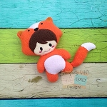 Fox Kid Stuffie Embroidery Design