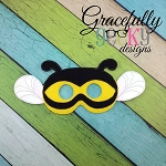 Bee Mask Embroidery Design - 5x7 Hoop or Larger 2 hoopings