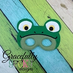 Frog Mask Embroidery Design - 5x7 Hoop or Larger