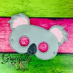 Koala Mask Embroidery Design - 5x7 Hoop or Larger