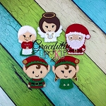Xmas 2015 Finger Puppet Embroidery Design - 4x4 Hoop or Larger