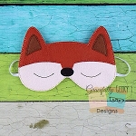 Fox Sleep Mask Embroidery Design - 5x7 Hoop or Larger