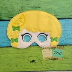 Lemon felt mask Embroidery Design - 5x7 Hoop or Larger