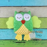 Sleepy Owl Stuffie ITH Embroidery Design - 4x4 Hoop or Larger
