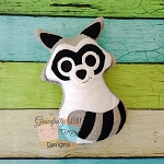 Raccoon Stuffie ITH Embroidery Design - 4x4 Hoop or Larger