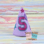 5th Birthday Hat ITH Embroidery Design - 5x7 Hoop or Larger