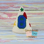 8th Birthday Hat ITH Embroidery Design - 5x7 Hoop or Larger
