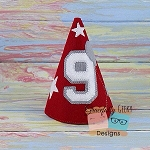 9th Birthday Hat ITH Embroidery Design - 5x7 Hoop or Larger