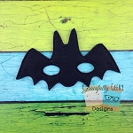 Bat Felt Mask Embroidery Design - 5x7 Hoop or Larger