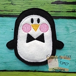 Boy Penguin Feltie ITH Embroidery Design 4x4 hoop (and larger)