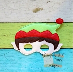 Elf Felt Mask Embroidery Design - 6x10 Hoop or Larger