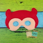 Little Devil Felt Mask Embroidery Design - 5x7 Hoop or Larger