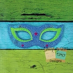Masquerade Felt Mask 1 Embroidery Design - 5x7 Hoop or Larger