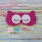 Owl Sleep Mask Embroidery Design - 5x7 Hoop or Larger