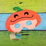 Pumpkin Kid Felt Mask Embroidery Design - 5x7 Hoop or Larger