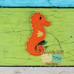 SeaHorse Feltie ITH Embroidery Design 4x4 hoop (and larger)