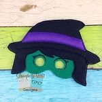 Witch Felt Mask Embroidery Design - 5x7 Hoop or Larger