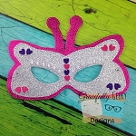 Butterfly Felt Mask Embroidery Design - 5x7 Hoop or Larger