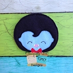 Cute Vampire Feltie ITH Embroidery Design 4x4 hoop (and larger)