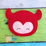 Cute Devil Feltie ITH Embroidery Design 4x4 hoop (and larger)