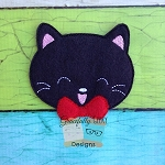 Cute Kitty Feltie ITH Embroidery Design 4x4 hoop (and larger)
