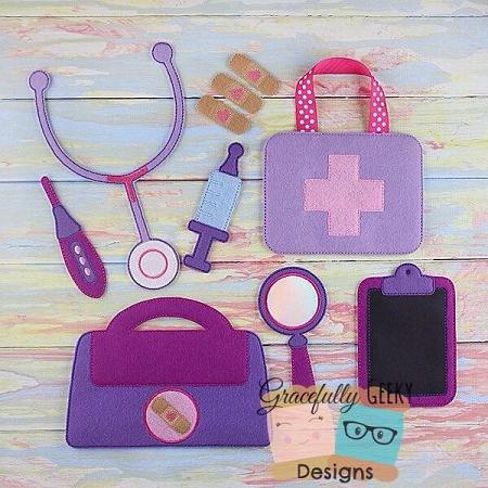 Doctor Set Embroidery Design 5x7 Hoop Or Larger