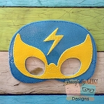Luchador 3 Felt Mask Embroidery Design - 5x7 Hoop or Larger