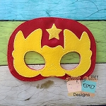 Luchador 2 Felt Mask Embroidery Design - 5x7 Hoop or Larger
