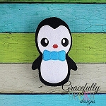 Boy Penguin Stuffie ITH Embroidery Design - 4x4 Hoop or Larger
