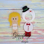 Snowman Outfit Dress up Outfit (OUTFIT ONLY)- to fit GGD Dress up dolls - Embroidery Design 5x7 hoop or larger