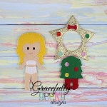 Christmas Tree Outfit Dress up Outfit (OUTFIT ONLY)- to fit GGD Dress up dolls - Embroidery Design 5x7 hoop or larger