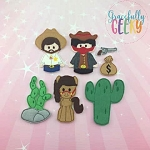 Wild West finger puppet set - Embroidery Design