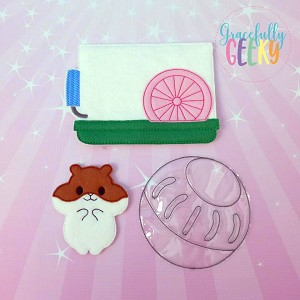 Hamster Finger puppet and accessories - Embroidery Design