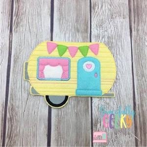 Camper Felt Doll Accessory ITH Embroidery Design - 5x7 Hoop or larger