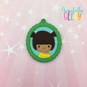 Little Girl 5 ornament Embroidery Design 4x4 hoop and up