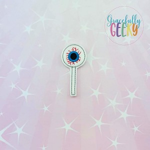Eye Ball Cakepop Feltie ITH Embroidery Design 4x4 hoop (and larger)