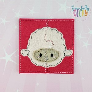 Sheep Toddler 4x4 Hoop Puzzle Embroidery Design