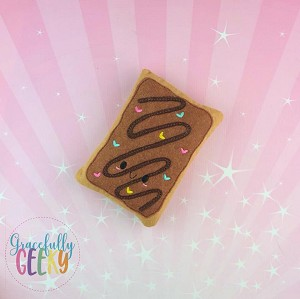 Chocolate Poptart Stuffie Embroidery Design - 4x4 Hoop or Larger Release: Sept18 W4 10/26