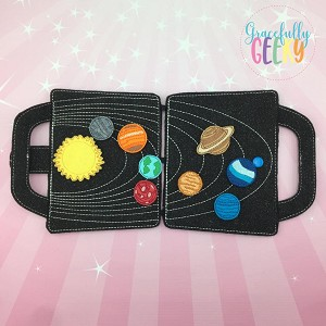 Solar System Felt Travel Board ITH Design 5x7 Hoop or Larger