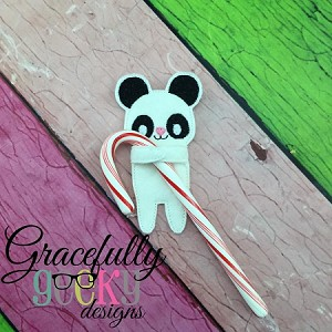Panda Candy Hugger Embroidery Design 4x4 hoop and up
