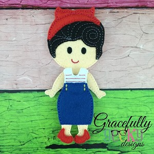 Susan Dress up Doll - Embroidery Design 5x7 hoop or larger