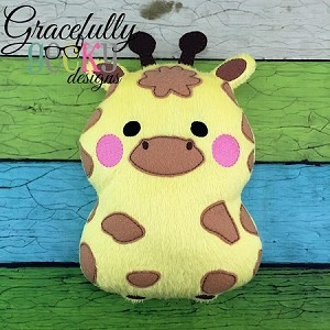 Giraffe Stuffie ITH Embroidery Design - 5x7 Hoop or larger