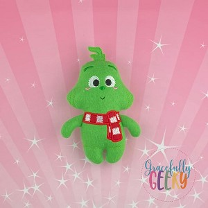 Grinch Felt Stuffie Embroidery Design - 5x7 Hoop or Larger