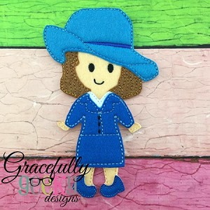 Peggy Dress up Doll - Embroidery Design 5x7 hoop or larger