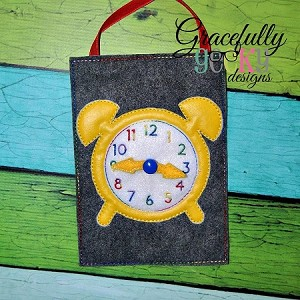 Tell Time Clock Embroidery Design - 5x7 Hoop or Larger