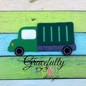 Truck Felt Board Piece ITH Embroidery Design - 5x7 Hoop or larger