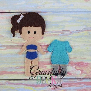 Sweater Dress Dress up Outfit (OUTFIT ONLY)- to fit GGD Dress up dolls - Embroidery Design 5x7 hoop or larger